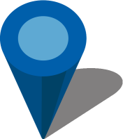 Simple location map pin icon3 blue free vector data