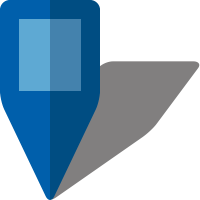Simple location map pin icon5 blue free vector data
