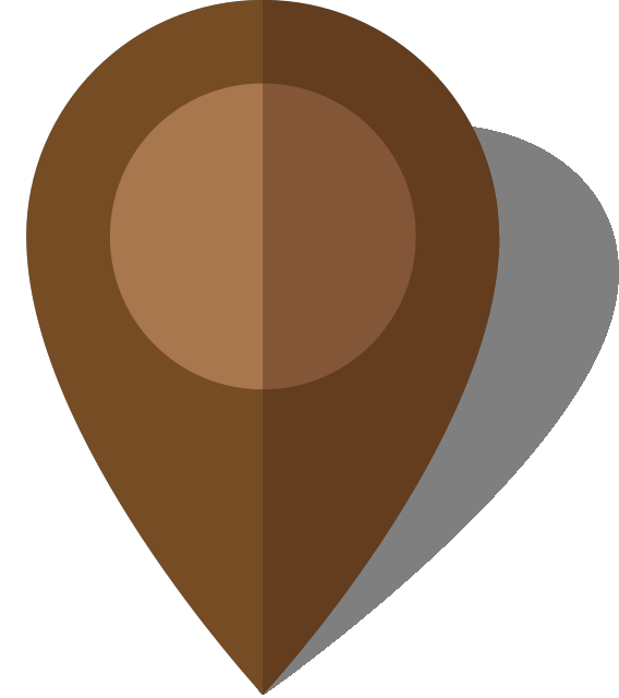 Simple location map pin icon10 brown free vector data