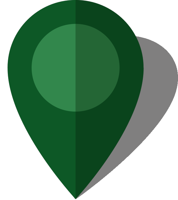 Simple location map pin icon10 dark green free vector data