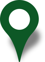 Simple location map pin icon dark green free vector data