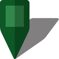Simple location map pin icon5 dark green free vector data
