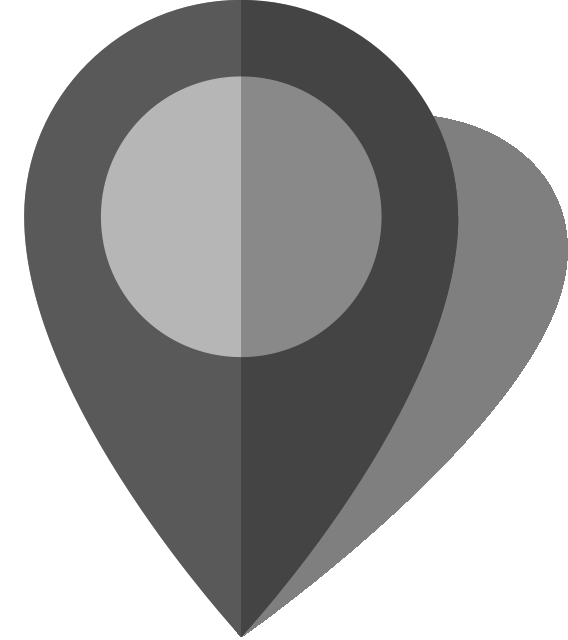 Simple location map pin icon10 gray free vector data