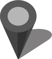 Simple location map pin icon3 gray free vector data