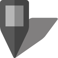 Simple location map pin icon5 gray free vector data