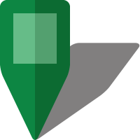 Simple location map pin icon5 green free vector data
