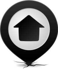 Location map pin HOME BLACK