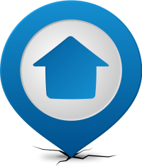 Location map pin HOME BLUE