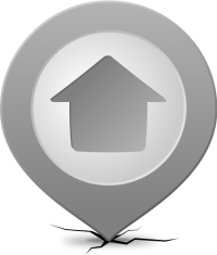 Location map pin HOME GRAY