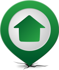 Location map pin HOME GREEN
