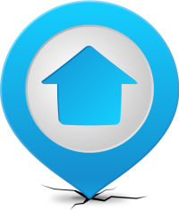 Location map pin HOME LIGHT BLUE