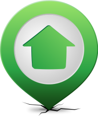Location map pin HOME LIGHT GREEN