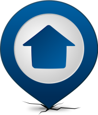 Location map pin HOME NAVY BLUE
