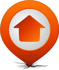 Location map pin HOME ORANGE