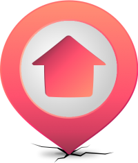 Location map pin HOME PINK