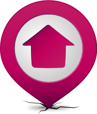 Location map pin HOME PURPLE