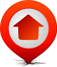 Location map pin HOME RED