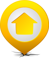 Location map pin HOME YELLOW