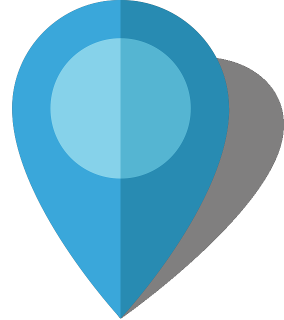Simple location map pin icon10 light blue free vector data