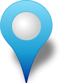 Location map pin LIGHT BLUE3