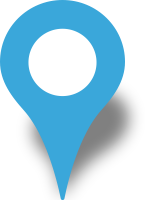 Simple location map pin icon light blue free vector data