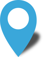 Simple location map pin icon2 light blue free vector data