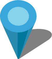 Simple location map pin icon3 light blue free vector data