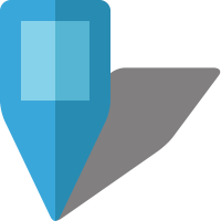 Simple location map pin icon5 light blue free vector data