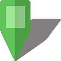 Simple location map pin icon5 light green free vector data