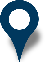Simple location map pin icon navy blue free vector data