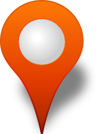 Location map pin ORANGE3