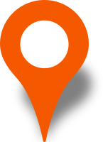 Simple location map pin icon orange free vector data