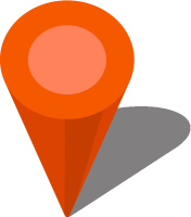 Simple location map pin icon3 orange free vector data