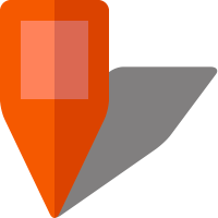 Simple location map pin icon5 orange free vector data