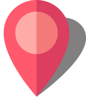 Simple location map pin icon10 pink free vector data