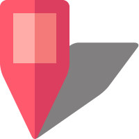 Simple location map pin icon5 pink free vector data