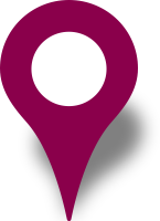 Simple location map pin icon purple free vector data