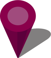 Simple location map pin icon3 purple free vector data