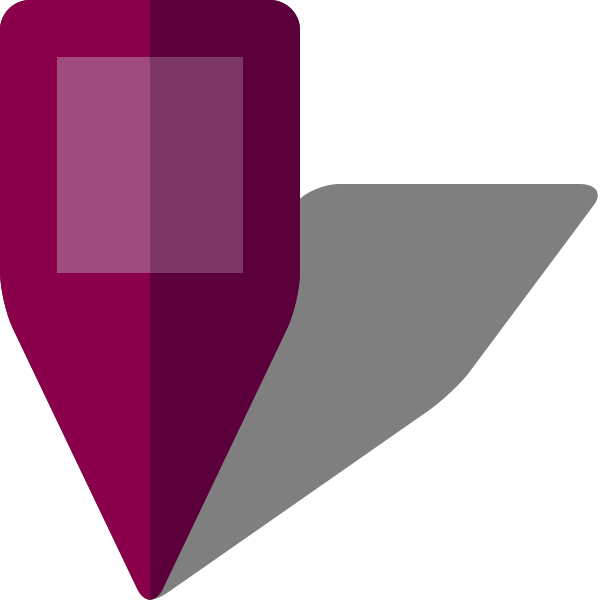 Simple location map pin icon5 purple free vector data