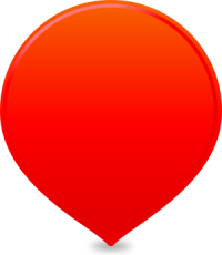 location map pin RED