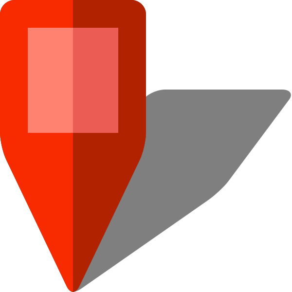 Simple location map pin icon5 red free vector data