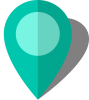 Simple location map pin icon10 turquoise blue free vector data