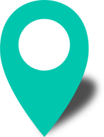 Simple location map pin icon2 turquoise blue free vector data