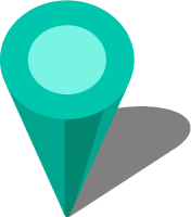 Simple location map pin icon3 turquoise blue free vector data