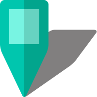 Simple location map pin icon5 turquoise blue free vector data