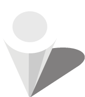 Simple location map pin icon3 white free vector data