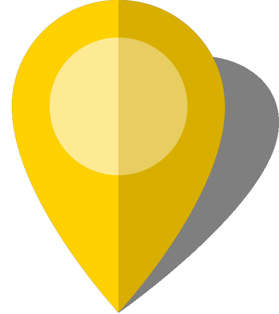 Simple location map pin icon10 yellow free vector data