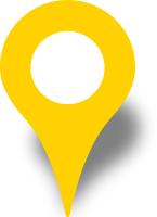Simple location map pin icon yellow free vector data