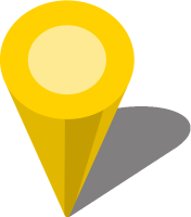 Simple location map pin icon3 yellow free vector data