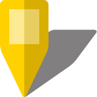 Simple location map pin icon5 yellow free vector data